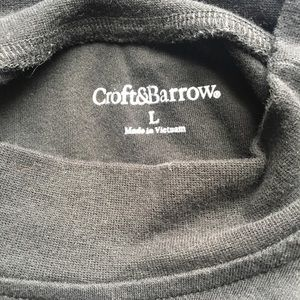 croft & barrow Shirts - Croft & Barrow Black Long Sleeved Shirt